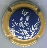 CAPSULE-CHAMPAGNE FEUILLATTE NICOLAS N°59 Edition Limitée, Fond Bleu Foncé - Feuillate