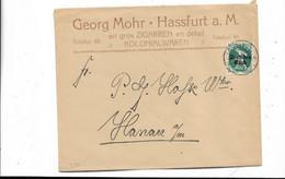 Brief Aus Hassfurt Nach Hanau 1920 - Storia Postale