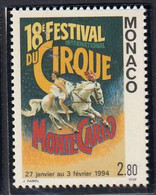 MONACO - 18e Festival International De Cirque - Y&T N° 1923 - 1994 - Zirkus