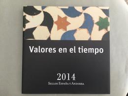 Libro Sellos España 2014 - Vacío Sin Sellos Como Nuevo Con Filoestuches - Ganze Jahrgänge