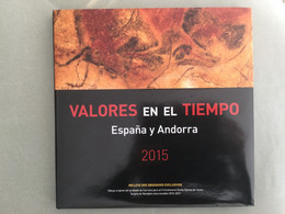 Libro Sellos España 2015 - Vacío Sin Sellos Como Nuevo Con Filoestuches - Ganze Jahrgänge