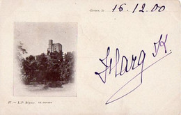 Gisors Cachet Convoyeur Sérifontaine Paris 1900 Verso Cpa Donjon - Railway Post