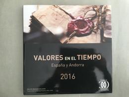 Libro Sellos España 2016- Vacío Sin Sellos Como Nuevo Con Filoestuches - Ganze Jahrgänge