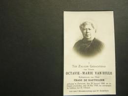 Doodsprentje ( 3864 )  Van Hille / De Baetseleer  -  Zevekote  Gistel  1939 - Avvisi Di Necrologio