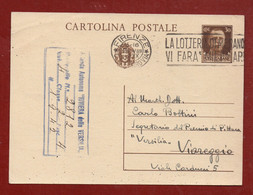 PITTORE MEMO VAGAGGINI CARTOLINA POSTALE  AUTOGRAFA AL PREMIO DI PITTURA VERSILIA  DEL 1942 - Autógrafos