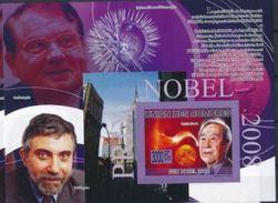 Comores Nobel Luc MONTAGNIER Paul KRUGMAN Yoichiro NAMBUS Souvenir Sheet Imperf MNH - Nobelpreisträger