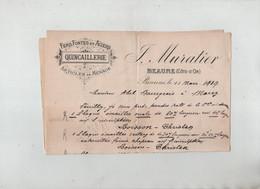 Muratier Fers Fontes Aciers Quincaillerie Beaune 1919 Plaque émaillée Lecouvreur Caporal 170 è Régiment Infanterie - 1914-18