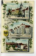 ALLEMAGNE Gruss Aus AACHEN  Quartiers Ville Litho  écrite 1919   Voir Dos    /D14-S2018 - Aachen