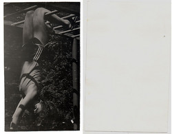 1960s Original 15x8 Photo Vintage Teenager Young Lady Woman Pants Swimsuit Pin Up Sport Acrobat USSR Russia (4768) - Pin-ups