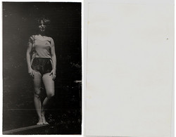 1960s Original 15x8 Photo Vintage Teenager Young Lady Woman Pants Swimsuit Pin Up Sport Acrobat USSR Russia (4770) - Pin-ups