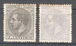 SP086 1879 SPAIN KING ALPHONSE XII MICHEL #176 22 EURO 2ST LH - Ongebruikt
