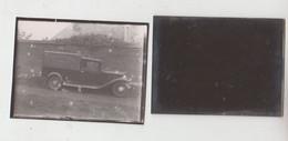 SAINT SERVAIS   Ancienne Photo + Plaque Verre   Camionette - Glasdias