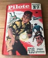 ALBUM PILOTE RECUEIL 7 RELIURE N° 79 à 91  COMPLET 1962  Vintage - Pilote