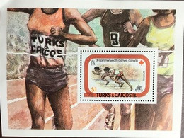 Turks & Caicos 1978 Commonwealth Games Minisheet MNH - Turcas Y Caicos