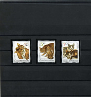 """Tchéquie 1999- Série Complète """"Chats """" - Neuf ** - Gatos Domésticos"""