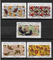 France 2019  Oblitéré Autoadhésif   N° 1657 - 1665 - 1666 - 1667 - 1668   - Impressions D'Afrique  - - Adhesive Stamps