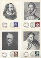 Cartes(4) - 1954 - Pub. Médecine - Labo. MARINOL - Dieppe - Advertising