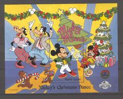 Disney Sierra Leone 1988 Mickey's Christmas Dance #2 MS MNH - Disney