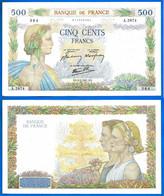 France 500 Francs 1941 8 Mai La Paix Serie A Que Prix + Port Frcs 08 05 1941 Frc Europe Paypal Bitcoin OK - 500 F 1940-1944 ''La Paix''