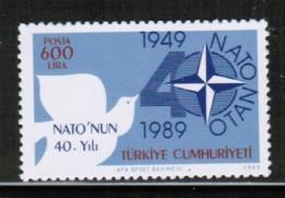EUROPEAN IDEAS 1989 NATO TR MI 2851 TURKEY ** - Europese Gedachte