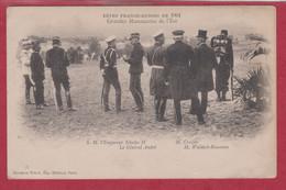 CP - Militaire - 1901 - Fêtes Franco-Russes - S.M. NIcolas II - Général André - M. Crozier. - Other