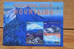 Palau International Year Of Mountains Mount Everest Fuji Huascarran  Owen Mountain - Escalada