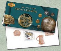 Souvenir Philatélique Graveur Sur Métal - Métiers D'art (2020) Neuf**sous Blister - Souvenir Blocks