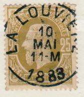 BELGIE  BELGIQUE  32  LA LOUVIERE    USED - 1869-1883 Leopold II