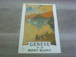GENEVE ET LE MONT-BLANC - EDITIONS PHOTOGLOB - ANNEE 2010 - - GE Ginevra