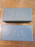 Boite ABL Métallique Kaki 2x - Uitrusting