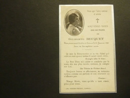Doodsprentje ( 3906 )   Becquet   -  Lisieux ( Frankrijk )  1929 - Avvisi Di Necrologio