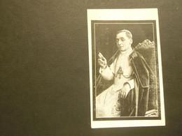 Doodsprentje ( 3909 )  Pâpe  Paus  Benediktus  1922 - Avvisi Di Necrologio