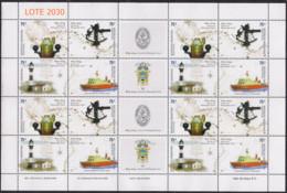 ARGENTINA 2004 HIDROGRAFIA Naval En Plancha Completa GJ3365-8 - Blokken & Velletjes