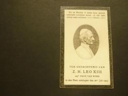 Doodsprentje ( 3910 )  Pâpe  Paus  Leo XIII   1903 - Avvisi Di Necrologio