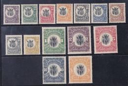 Tanganyika  1922  Serie Corrente Giraffe 14 Val. Nuovi  MNH/ MLH **/*  Tutti Filigrana Dritta - Tanganyika (...-1932)