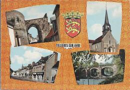 CPSM Tillières-sur-Avre Vues Multiples Armoiries - Tillières-sur-Avre