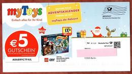 Karte, Infopost, MyToys Berlin, DV 09, 25 C, Frankierwelle, 2013 (99255) - Machine Stamps (ATM)