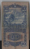 Billet De 10 Schilling   2-1-1933 - Austria