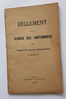 EPINAL 1912 CANTONNIERS VOSGES - Decretos & Leyes