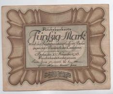 Billet De  50  MARK    30-11-1918 - 50 Mark