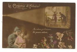 LE CINEMA D'AMOUR PROJECTEUR SILHOUETTE FEMME POILU MILTARIA   C1623 - Sonstige