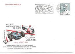 """66 - 2 - Enveloppe Suisse Avec Oblit Spéciale """"Ollon-Villars Champ Du Monde + D'Europe"""" 1967 - European Ideas"""