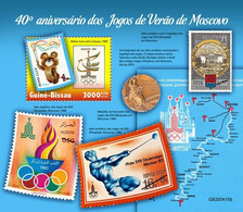 Guinea Bissau.  2020 40th Anniversary Of Summer Games Moscow. (415b)  OFFICIAL ISSUE - Summer 1980: Moscow