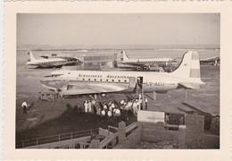 PHOTOGRAPHIE  DOUGLAS DC4 AÉROPORT DE MADRID - Aviation