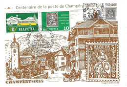 """66 - 17 - Rare Carte """"PEN"""" Avec Oblit Spéciale """"Champéry Congrès ISCA"""" 1965 - Marcofilie"""
