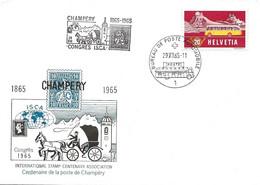 """66 - 18 - Enveloppe Dessin PEN Avec Oblit Spéciale """"Champéry Congrès ISCA"""" 1965 - Marcofilie"""