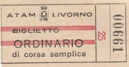 ATAM LIVORNO BIGLIETTO ORDINARIO (XF175 - Europa