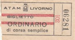 ATAM LIVORNO BIGLIETTO ORDINARIO (XF184 - Europe