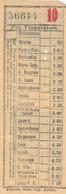 BIGLIETTO BUS MONSUMMANO LUCCA (XF188 - Europa