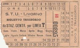 BIGLIETTO BUS STU LIVORNO Strappo Centrale Controllore (XF195 - Europa